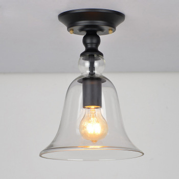 RH retro E27 Crystal Glass Light Northern Europe Personality Creative Balcony Aisle Ceiling Lamp