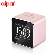 Alarm clock Wireless Bluetooth Speaker Hands-free Speakers time display Portable Subwoofer Stereo Sound Box Support TF card
