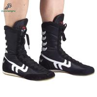 Zuoxiangru New Arrival None Men Lace up Cow Muscle Genuine Leather Rubber Cotton Fabric Wrestling Shoes Sneakers