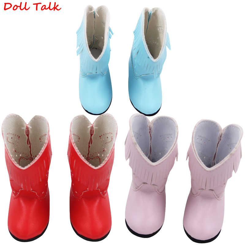 Doll Talk 1Pair PU Leather 1/6 Doll Boots Handmade Personality Dolls Shoes For BJD Licca Jb Doll Mini Boot Best Children Gift