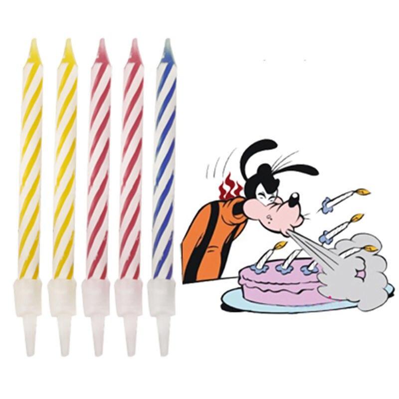 Kerzen Warnen Zaubertrick Nachfeuern Kerze Kinder Geburtstag Kerze Kuchen Party Witz Weihnachtsgeschenk Spaß Party Decor 10 Teile/los