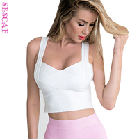 Femininas Rose Red Black Bandage Bustier Top For Women Fashion Tank Tube Top Bodycon Elastic