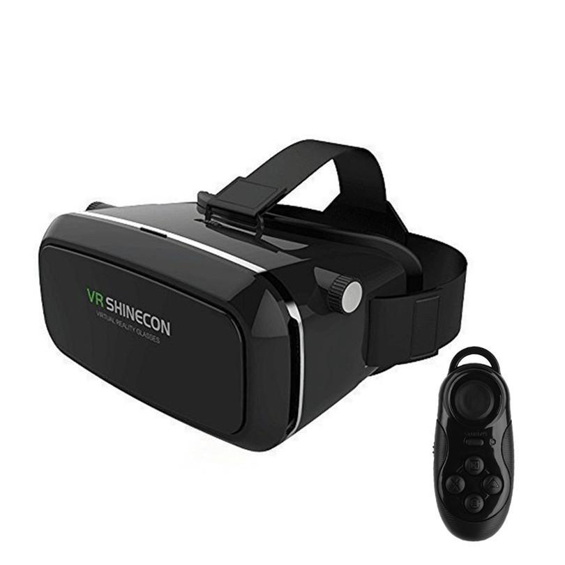 Hotting VR Shinecon 3D Glasses google cardboard HD Glasses for 3.5-6.0 inch Phone+Bluetooth Wireless Mouse gamepad VR BOX 3.0