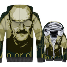 Breaking Bad Jacket Heisenberg Hoodie Men Walter White Sweatshirt 2018 New Design  Winter Thick Fleece Warm Zipper 3D Print Coat