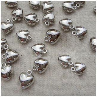 Present//Gift. Gold  Beads /& Love Heart THANK YOU Tibetan Silver Bookmark