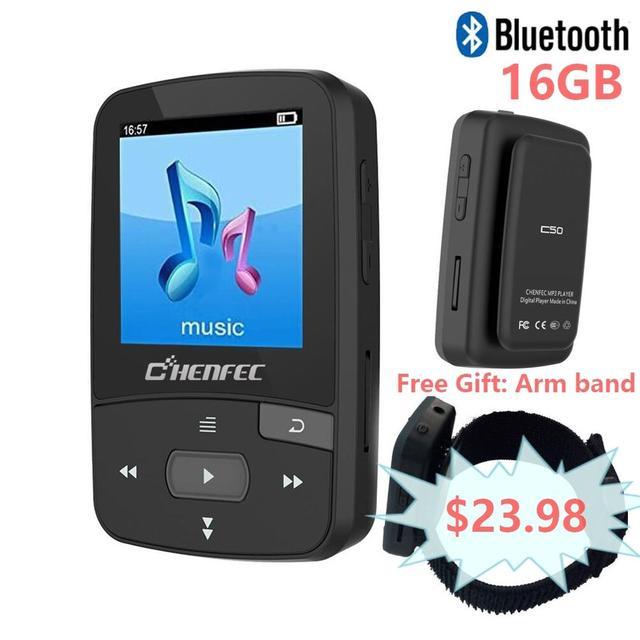 オリジナル ChenFec-C50 ミニ MP3 プレーヤー 16 ギガバイトクリップスポーツ高品質ロスレス音楽プレーヤー FM 、をサポート WMA 、 APE 、 FLAC