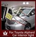 Guang Dian luz del coche luz interior cúpula vanidad luz del tronco cargo accesorios kit de lámpara del adorno T10 para Alphard 2002-2015