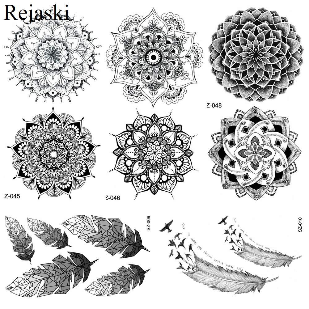 buy rejaski black mandala flower. Black Bedroom Furniture Sets. Home Design Ideas