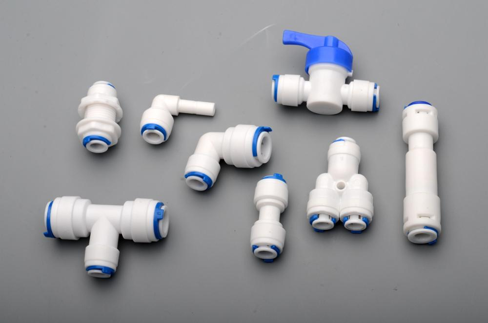 1/4 OD PE TUBE to tube Quick Connector Family drinking water RO filter reverse osmosis system 1