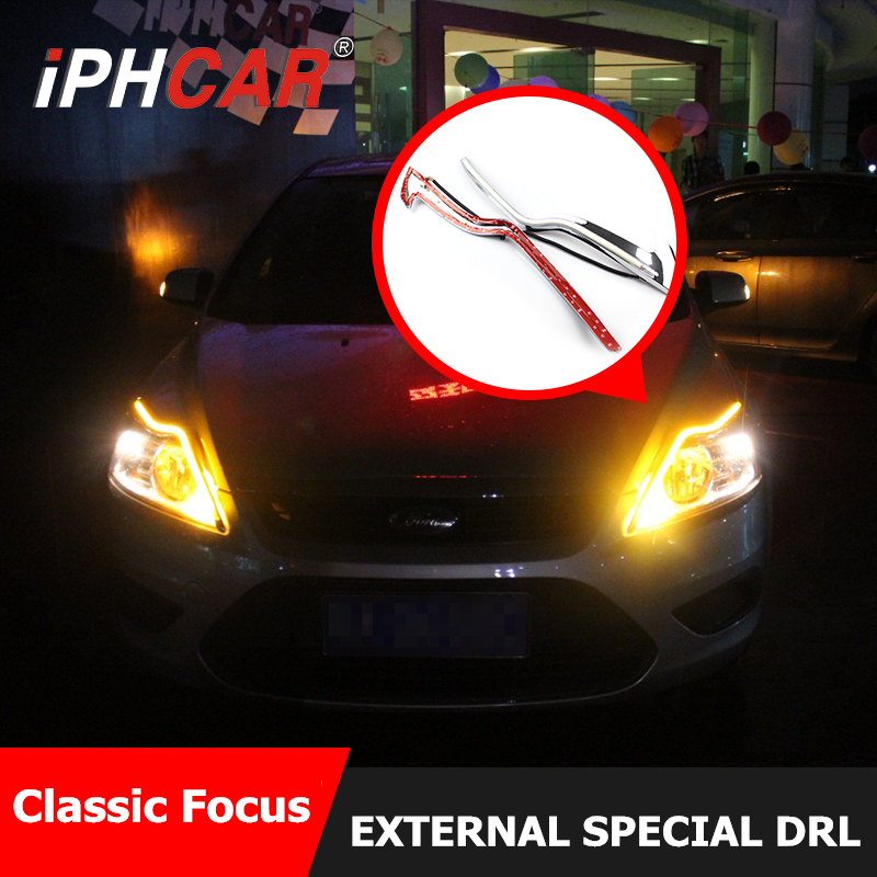 Free shipping iphcar car styling universal special waterproof headlight led daytime running light for