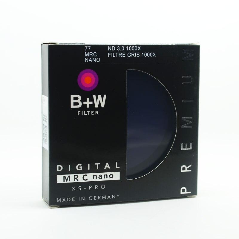 B + w 810 nd1000 77mm mrc ultra fina densidade neutra 10 parar para câmera nd 1000 67 72 77 82