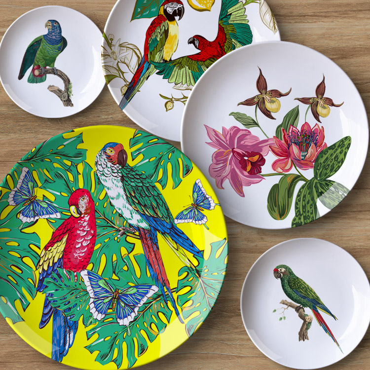 Italian Decorative Plates For Hanging.Us 13 11 31 Off Bird Flower Decorative Plate Hanging Ceramic Craft Home Furnishing Wall Decorative Dish Italy Style Background Painting Adornme In
