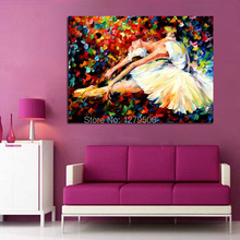 100%handpainted Oil painting On Canvas Ballet Girl Wall Pictures Paintings High Quality Art Knife Home Dector