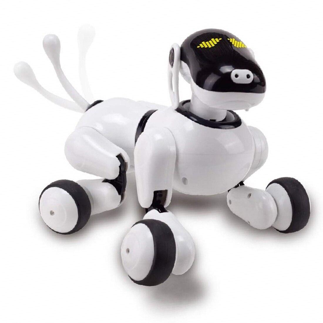 Enfants Pet Robot Jouet Pour Chien avec Danse Chant/Contrôle de Reconnaissance Vocale/Tactile Sensible/APP Programmation Personnalisée Actions
