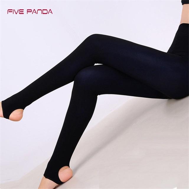 FIVE PANDA 2017 New Style Velvet Three-Color Mix Black Leggings Women Elastic Gothic Casual Slim Leggings Balck Leggins CNDK012