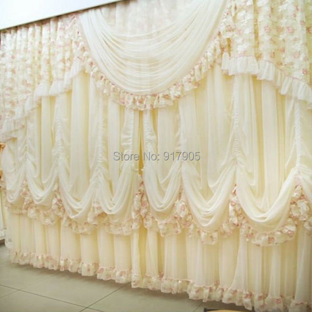 Luxury Lace Ruffled Girl Princess Curtains For Living Room Modern ...