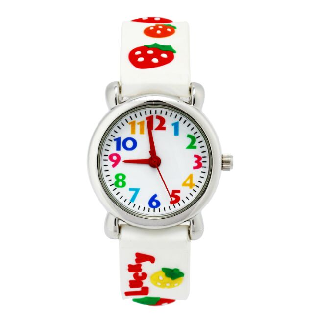 Watch for girls strawberry Waterproof Kid Watches Brand Quartz Wrist Watch Baby Girls Boys Fashion Casual Reloj цена