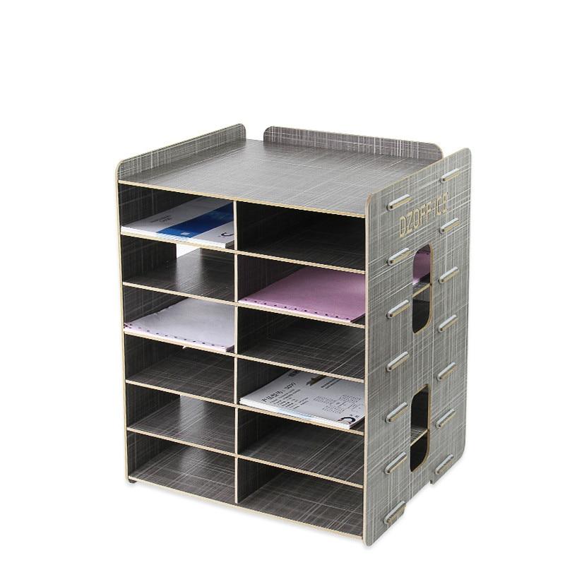 Creative office supplies Wooden file rack file holder Desktop A5 ...