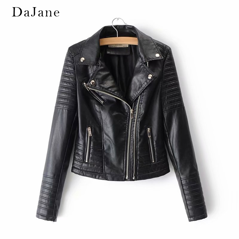 Autumn Winter New women's   Leather   Locomotive Jacket long-sleeved Shirt Manufacturers   Leather   Jacket Women