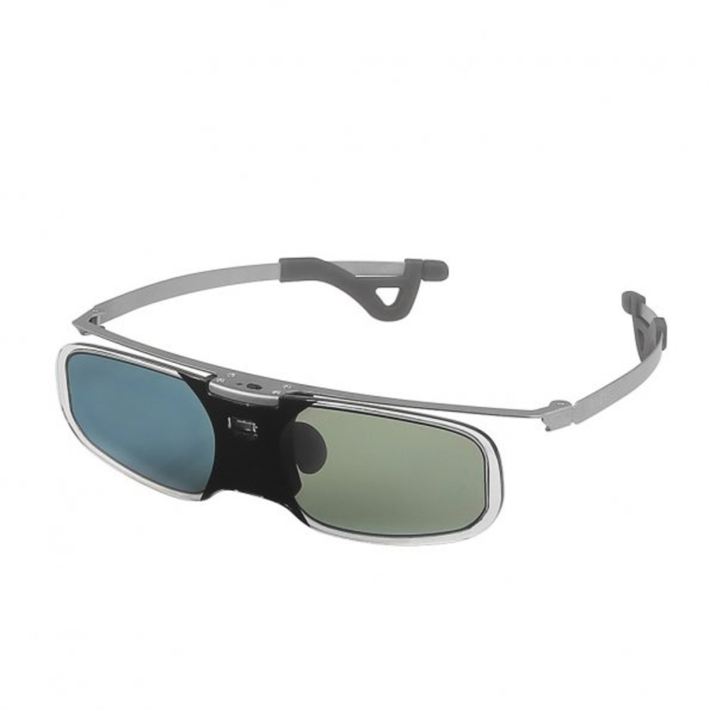 MAHA 10M 144Hz 3D Active Rechargeable Shutter Glasses for Acer ViewSonic BenQ Vivitek Optoma 3D DLP-Link Ready Projector Silver