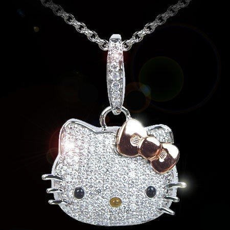 Hello Kitty Pendant ALP Hot Sale Women Summer Jewelry Crystal Rhinestone With Bow Hello Kitty  Pendant Necklaces For Women Hello Kitty Jewelry 1pc/lot