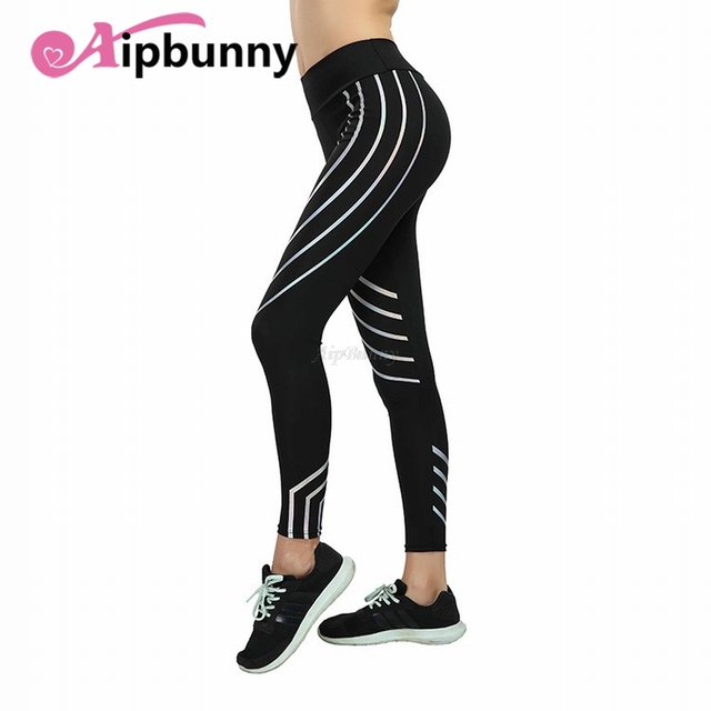 Plus Size XXXL Laser Reflective Legging Women'S Yoga-Pants Big-Girl Sport Fitness Leggings Tranining Running Joggers Sweatpants