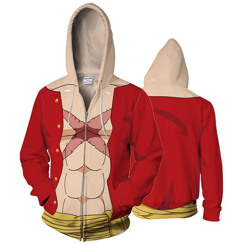 BIANYILONG 2018  Monkey D. Luffy 3D Hooded Sweatshirt One Piece Luffy Hoodies for Men Women Camouflage Autumn Sweatshirt
