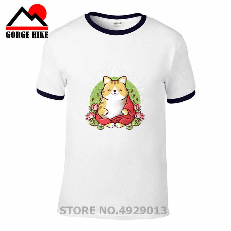 2019 상위 판매 플로랄 디자인 힌두교 부처님 tshirt 인도 하나님 시바 하나님 티셔츠 키티 연꽃 고양이 신의 몸 t 셔츠