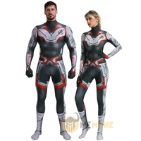 Adult Avengers 4 Endgame Advanced Tech Quantum Realm Zentai Halloween Cosplay Costumes