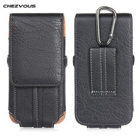 Retro PU Leather Belt Clip Loop Holster Phone Pouch for IPhone 7 6 6S Plus Universal Bag Card Flip Cover Galaxy S8 Plus Cases