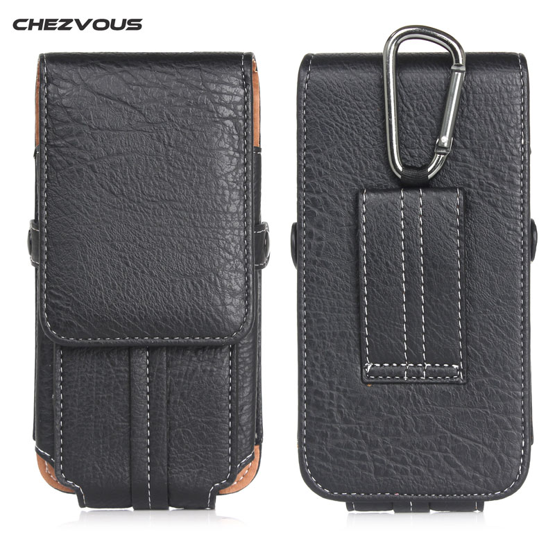 Retro PU Leather Belt Clip <font><b>Loop</b></font> Holster <font><b>Phone</b></font> Pouch for IPhone 7 6 6S Plus Universal Bag Card Flip Cover Galaxy S8 Plus <font><b>Cases</b></font> image