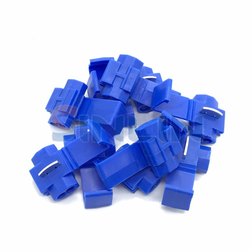 IMC 1000pcs 802P3 Blue Scotch Lock Quick Splice Wire Connector  18-14AWG Hard Soft 0.75-2.5mm^2  Crimp Terminal