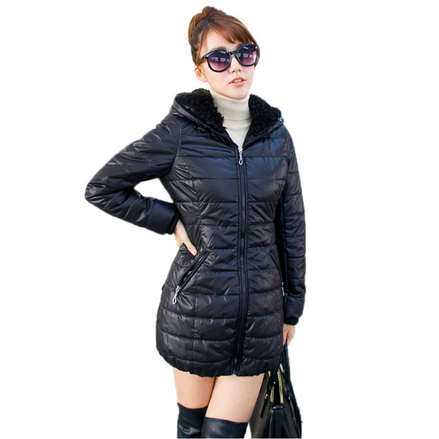 2016 Winter Jacket Women 5XL Big Size Hooded Coat for Women Thick Warm Full Sleeve Long Parkas Outwear ow0135
