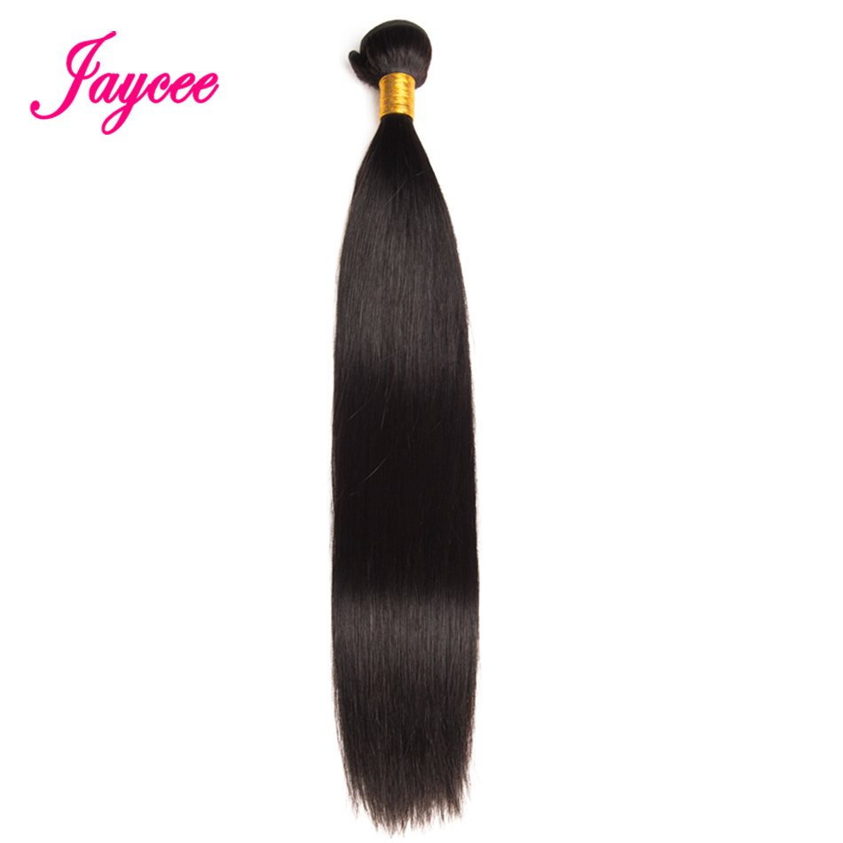 Brazilian Straight Hair Bundles Remy Human Hair Bundles 1PC Hair Weave Double Weft Hair Extensions Jaycee Can Be Dyed