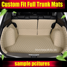 Custom fit car trunk mats for Accord Corolla Altima CRV Civic Fusion Escape Focus Explorer 3D car styling cargo liner(China)