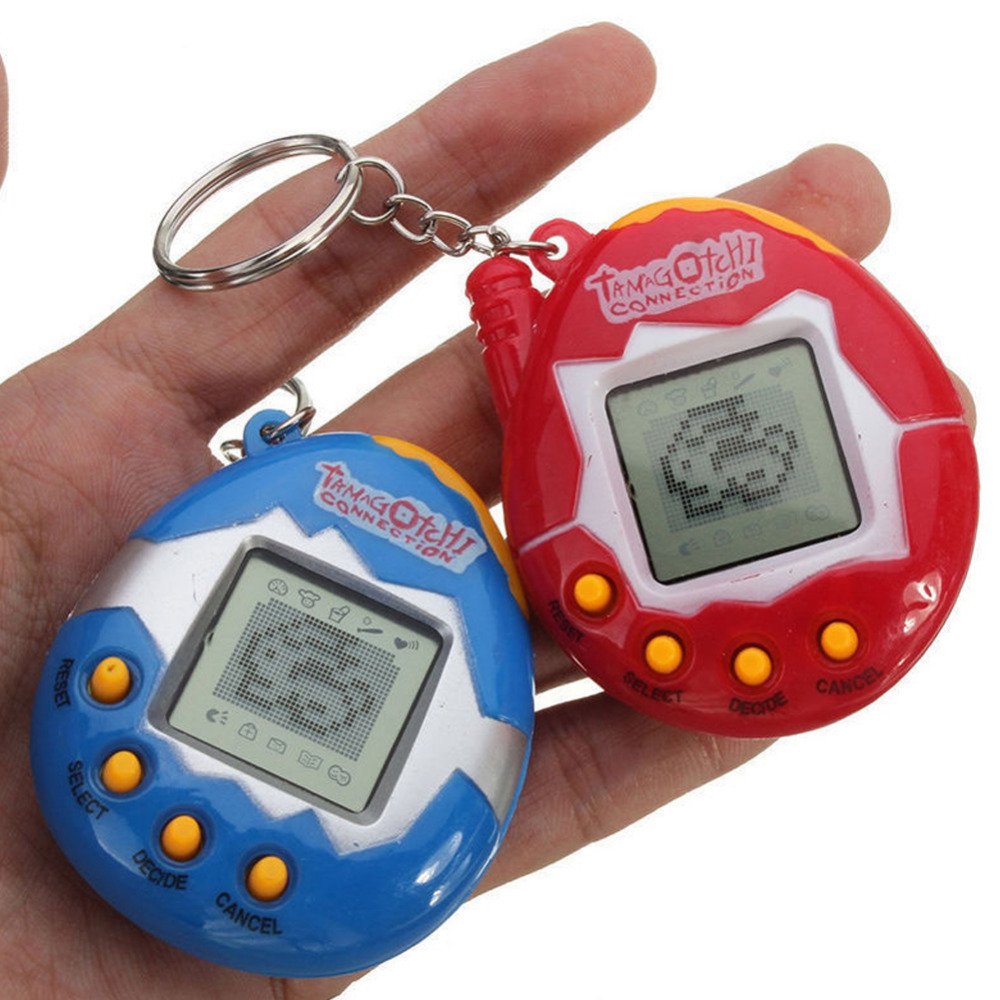 Kids Puzzle Solid Color Pet Playing Toys Mini Plastic Electronic Digital Pet Funny Toys Handheld Game Machine For Gift