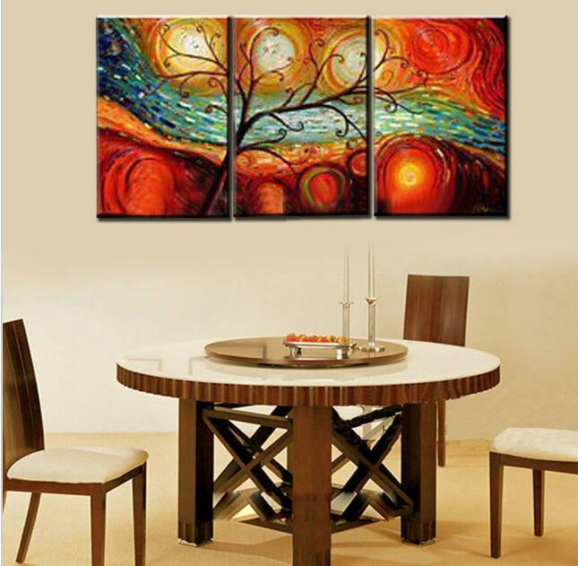 Tree Landscape Oil Paintings Hand Painted On Canvas 3