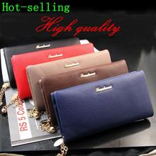 Free Shipping Fashion women s PU leather long design zipper wallets purse clutch bag handbag NQB35