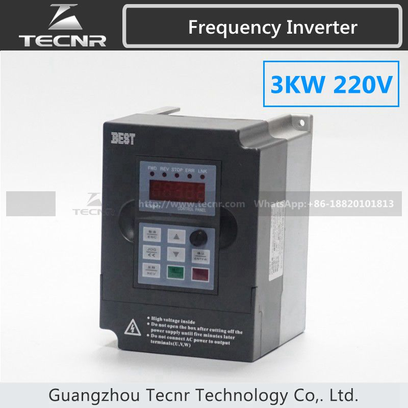 high quality 3KW VFD inverter 220V input 1PH output 3PH frequency inverter spindle motor new original 1 phase delta inverter vfd015cb21a 20 output with keypad 1ph input 3ph 1500w 1 5kw 2hp 220v 0 600hz