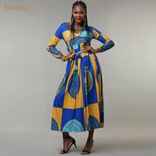 BOHISEN Cotton African Print Women Clothes Bazin African Dresses for Women Fashion Dashiki Skirts Robe Ladies Clothing