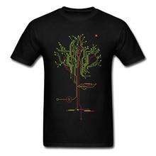 Mens Tops Tees Tree of Tomorrow IC Circuit Board Creative Design Youth Tshirt Oversized Fashion Cool Sweatshirt