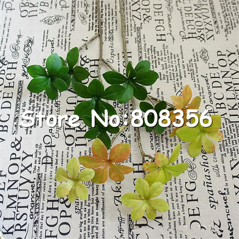 new fake lucky leaf bunch (3 stems/piece) artficial flowers greenery Best Fake Greenery