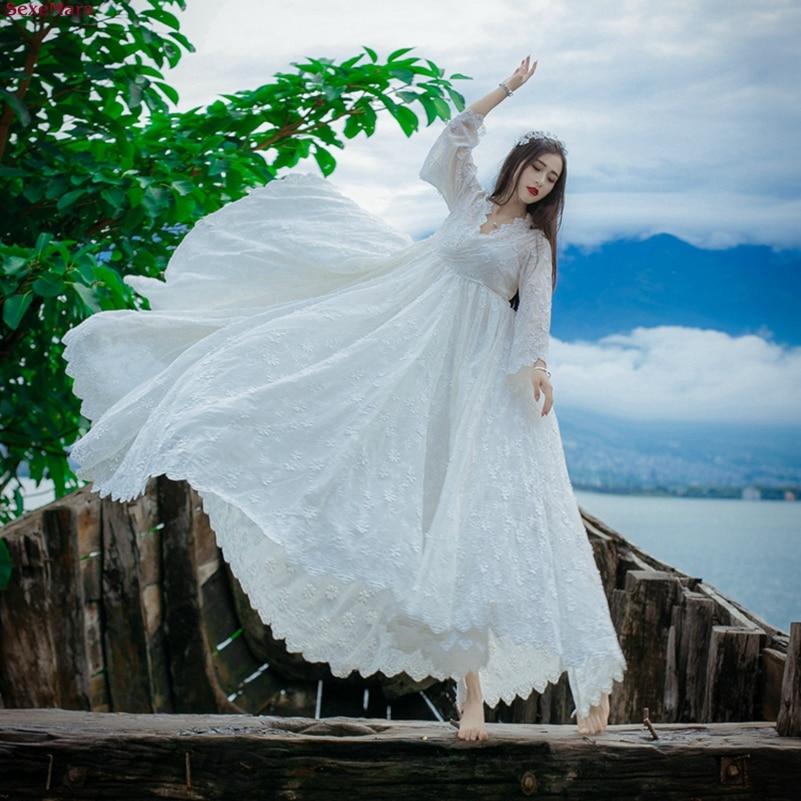Broderie Gratuite pièce Deux Blanc V Mode La Mexemara Nouvelle Grand cou Robe Pendule Livraison Costume BR4zXO
