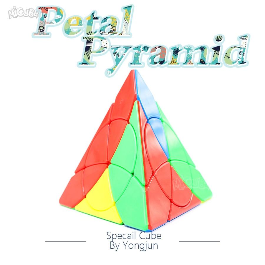 Yongjun Petal Pyramid Leaf Magic Cube Stickerless Pyraminxes  Magic Speed Puzzle Stickerless Toys For Children Cubo Magico
