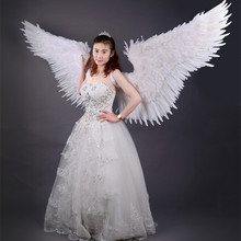 2017 Big Angle Wings Props Anime Game Prop Amazing Gray feather wings Catwalk feathe for Cosplay photography Display