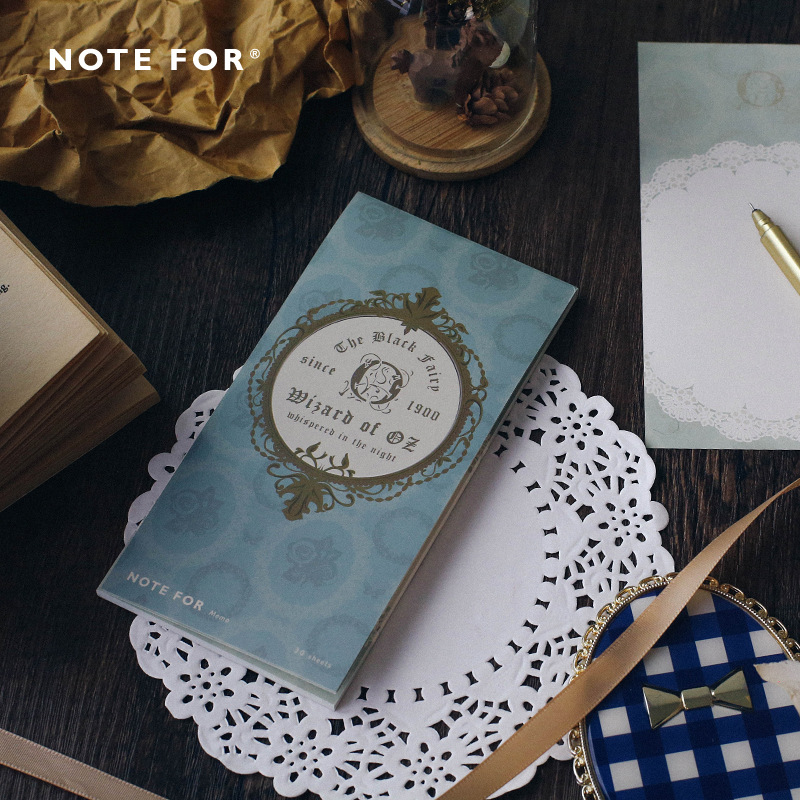 The Dark Fairy Tale Vintage Fashion Cool Design Notepad 8*15.7cm 30 Sheets Blank Paper Notes 12pcs/lot