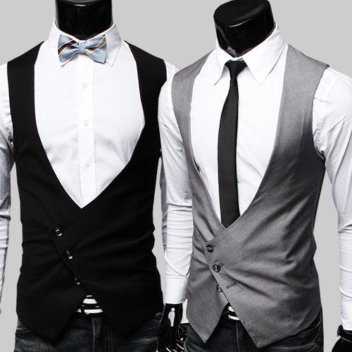 Mens Coletes À Prova de Colete de Alta Qualidade 2015 Black Grey Vestido Formal para Os Homens Gilet Homme Traje Do Partido Clássico Vestido Formal Dos Homens colete