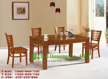 T 630 C 399  Luxurious Solid Dining Chair Solid Wood Dinning Table Furniture With Chairs