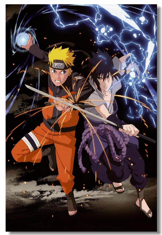 Us 5 19 35 Off Custom Canvas Wall Decals Uzumaki Naruto Poster Hatake Kakashi Wallpaper Japan Anime Sticker Mural Kids Room Decoration 0018 In