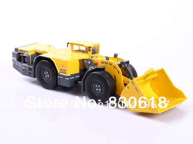 1:50 skala DieCast atlas copco Scooptram ST14 Mining Loder metallmodell Konstruktionsleksaker leksak